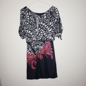 White House Black Market Dresses - White House Black Market Black White Silk …